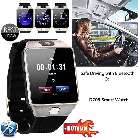 Amazon.com: 2018 New Smart Watch dz09 With Camera Bluetooth ...