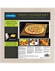 Healthy Cooking Baking Mat Set of 2 Large Non Stick Reusable Mesh Sheets Cook Without Oil Or Fat for Crispy Food Dishwasher Safe