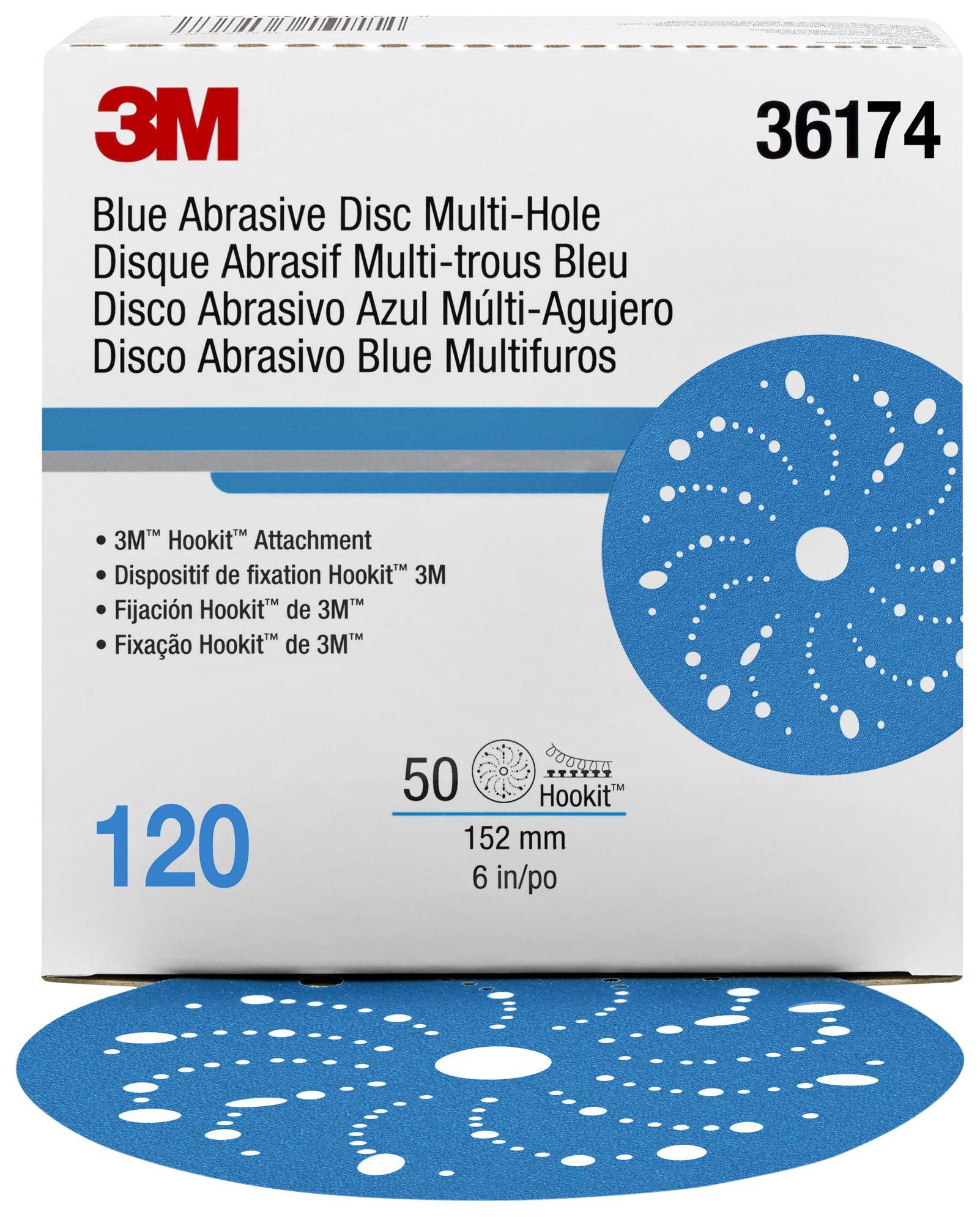Hookit 36174 Blue Abrasive Disc