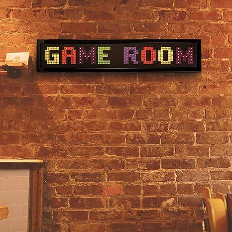 Amazon.com: Crystal Art – Sala de juegos letrero de LED ...