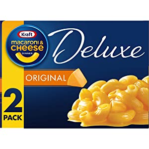 Kraft Deluxe Original Flavor Cheddar Macaroni and Cheese Meal (14 oz Boxes, 2 Count)