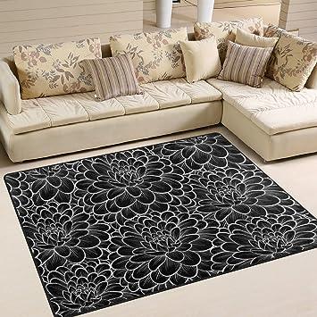 Ingbags Super Soft Modernes Schwarz Und Weiß Blumen, Ein Wohnzimmer  Teppiche Teppich Schlafzimmer Teppich Für