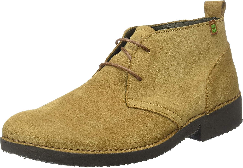 El Naturalista Ng23 Lux Suede Camel/Yugen, Zapatos de Cordones Derby para Hombre