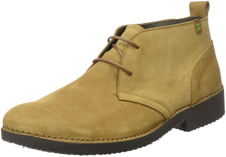 TALLA 42 EU. El Naturalista Ng23 Lux Suede Camel/Yugen, Zapatos de Cordones Derby para Hombre
