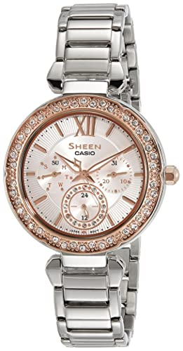 huge selection of 7317a a3597 Buy Casio Sheen Analog Silver Dial Women's Watch - SHE ...