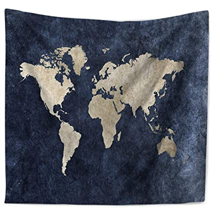 Amazon.com: ECONIE World Map Tapestry Bohemian Wall Hanging Tapestry ...