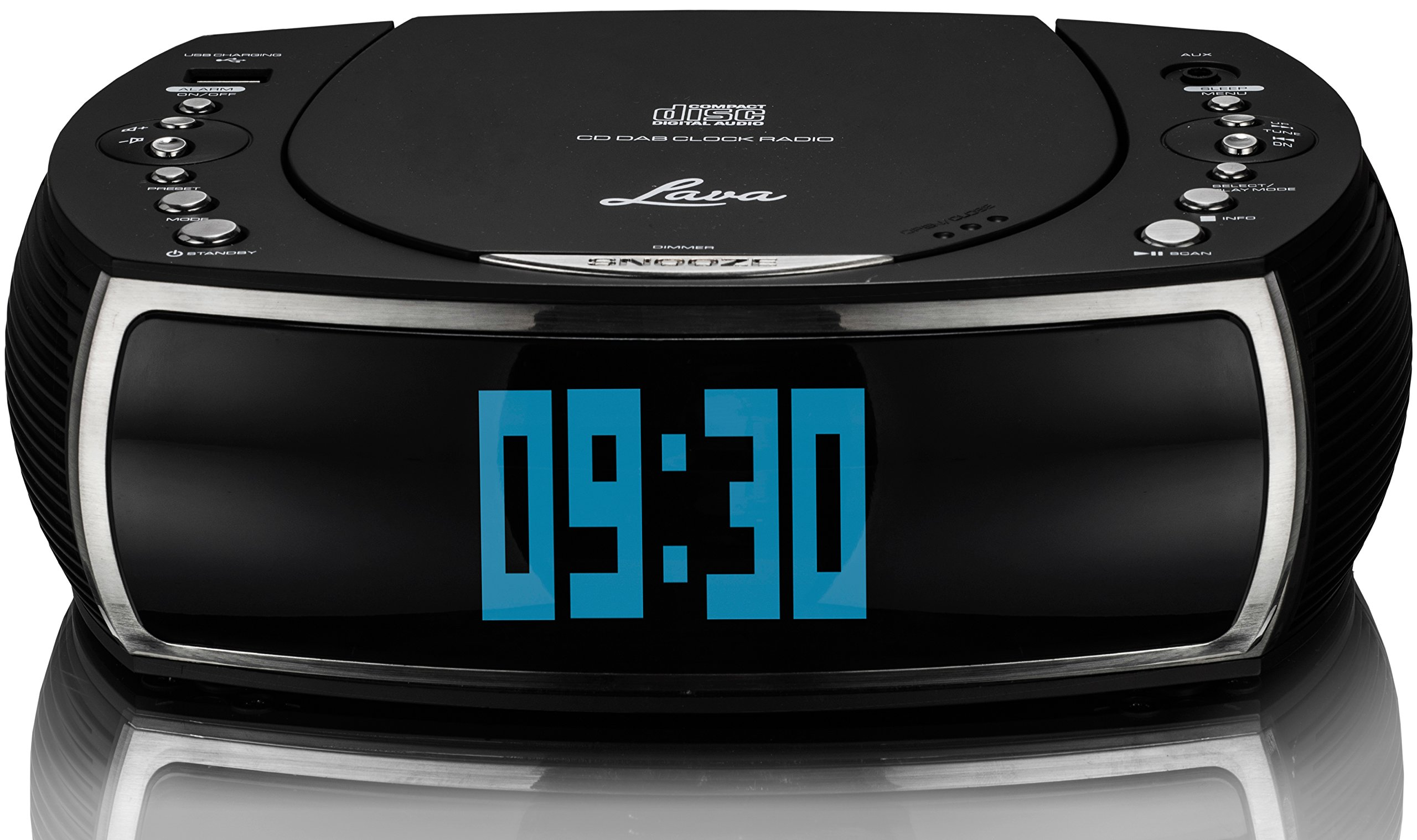 lava bedsidecd alarm clock dab dab digital fm radio. Black Bedroom Furniture Sets. Home Design Ideas