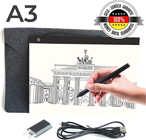 Table Lumineuse Dessin Professionnelle A3 Support Portable
