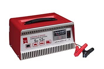 Vip - Cargador Batería 5 Amp, 12 V, Fusible protección externo, inversión polaridad o sobrecarga.