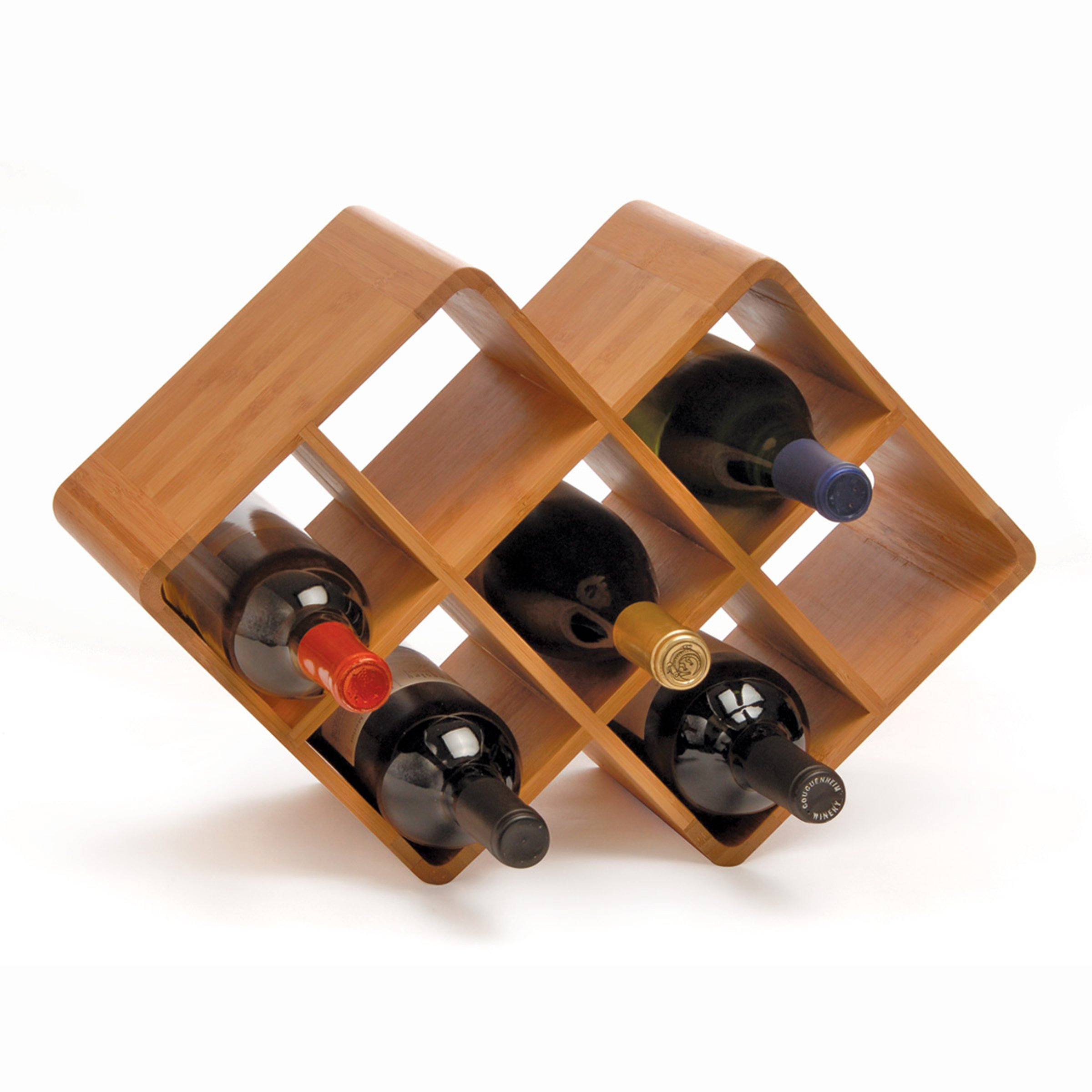 Oenophilia Bamboo Wine Rack - 8 Bottle