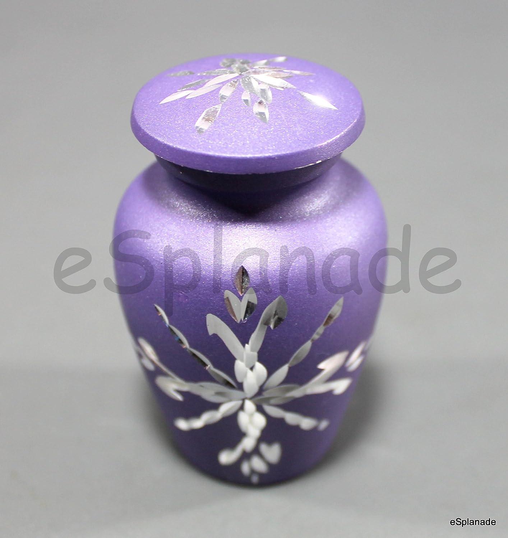 Burial Urn Memorials Keepsake urn Metal Keepsake Urns Blue Carved eSplanade Cremation urn Memorials urns Container Jar Pot