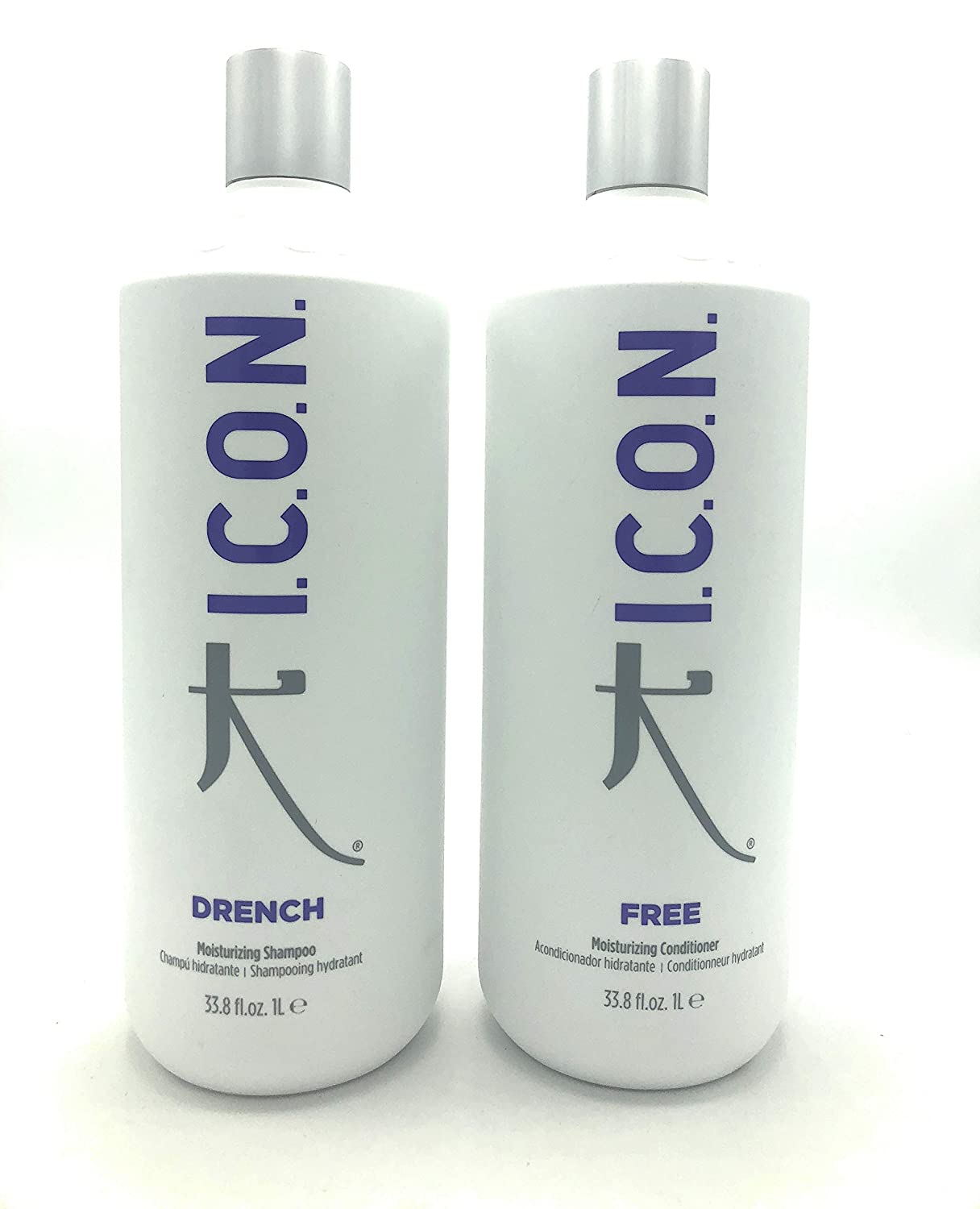 ICON Drench Shampoo 33.8oz + Free Conditioner 33.8oz (Combo Set) by USA Roomidea
