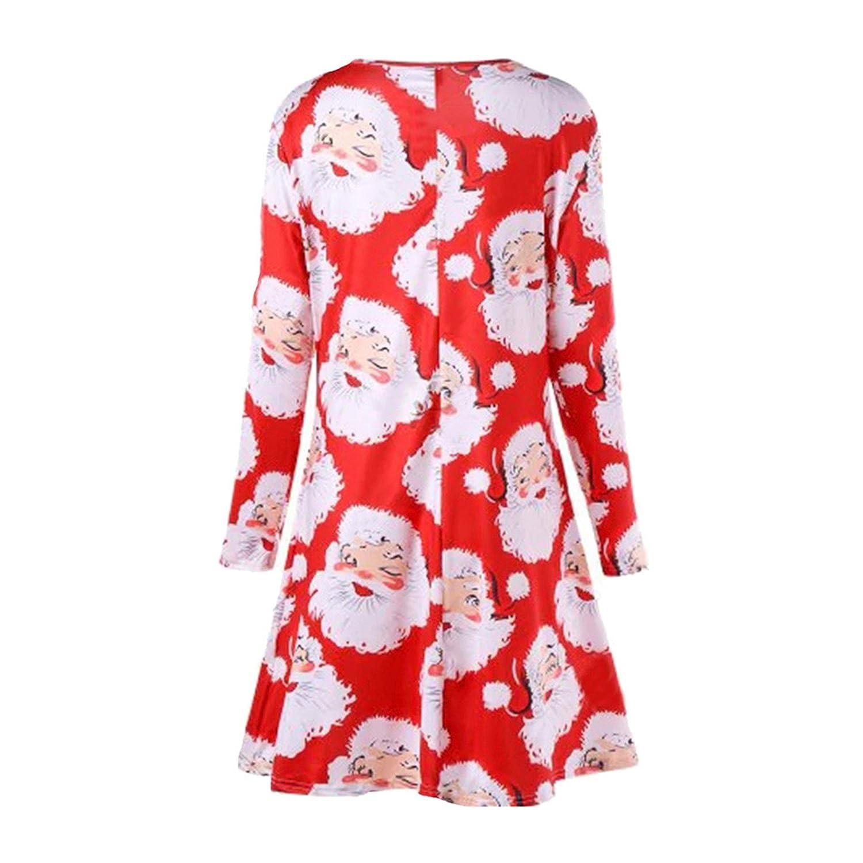 Vestido de fiesta de navidad, Longra❤️Casual Suéter Mini Vestir ...