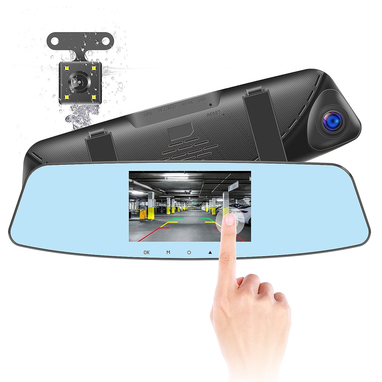 DOD RX8W 1080P HD Mirror Type Dash Cam with Sony Exmor Sensor 8GB SD Card Included