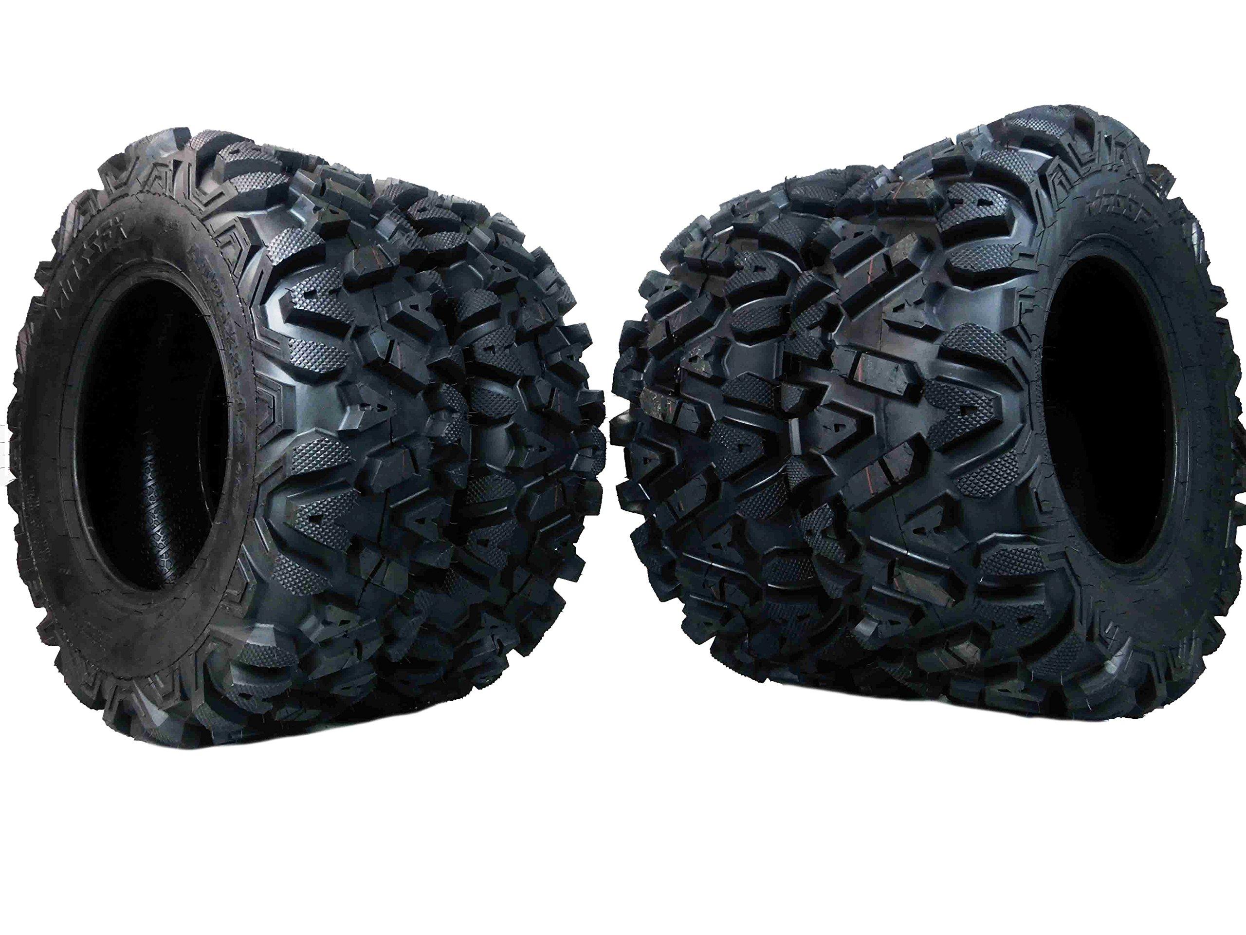 4 New 25x8-12 25x10-12 KT MASSFX TIRE SET ATV TIRES 6 PLY 25'' 25x8x12 25x10x12 by MASSFX (Image #1)