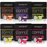 Nespresso Compatible Coffee 120 Pod Capsules Variety Pack