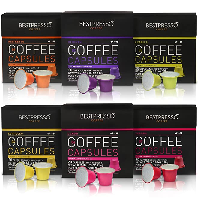 Bestpresso Nespresso Compatible Gourmet Coffee Capsules
