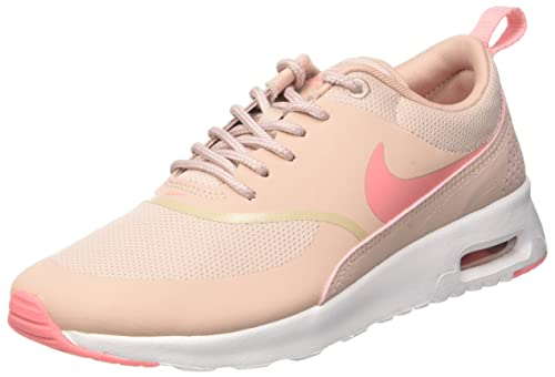 brand new b86d0 71169 Nike Men s WMNS Mesh AIR Max THEA 699409-610 Pink and White Shoes - 9.5