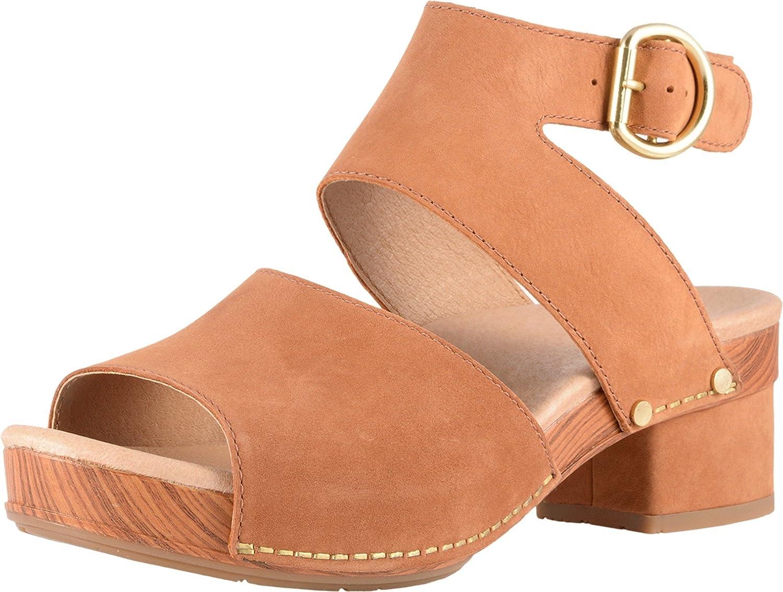 Dansko Womens Minka Leather Open Toe