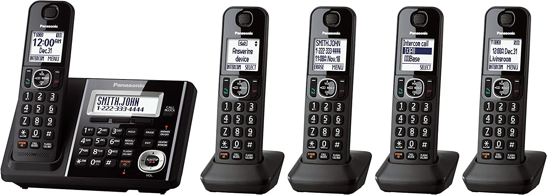 Panasonic Expandable teléfono inalámbrico con contestador automático – 5 Terminales: Amazon.es: Electrónica