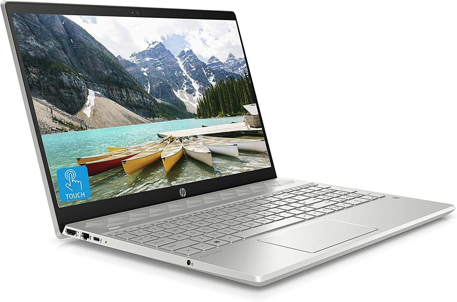 Hp Pavilion 15 Cw1004na 15 6 Inch Full Hd Touch Screen Laptop Amd Ryzen 3 3500u 8 Gb Ram 256 Gb Ssd Windows 10 Home Silver Amazon Co Uk Computers Accessories