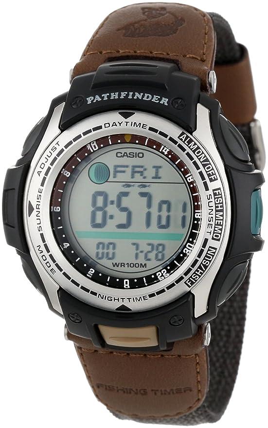 Amazon Casio Mens Pas400b 5v Pathfinder Resin Fishing Watch