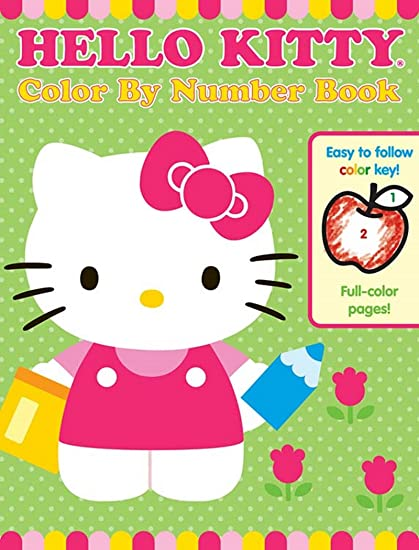 Amazon Com Bendon Hello Kitty 48 Page Color By Number Coloring Book