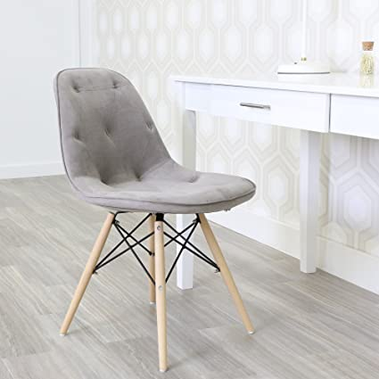 Genial WE Furniture Grey Upholstered Eames Chairs   Set Of 2