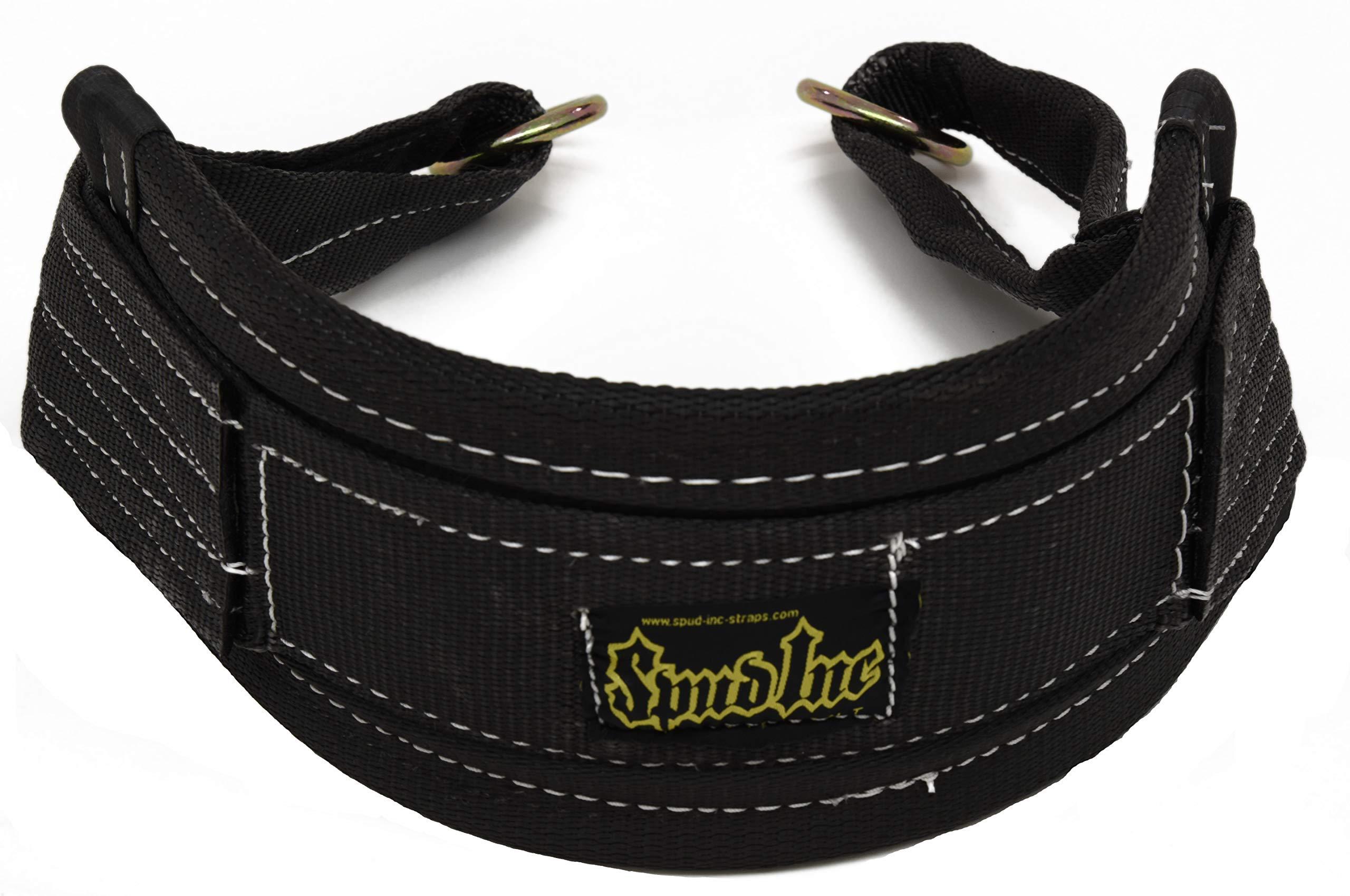 Spud Belt Squat Medium Belt for Weight Lifting Strength Training and Power Lifting (Black)