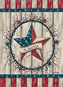 Covido Home Decorative July 4th Garden Flag American Patriotic House Yard Welcome Decor USA Star Liberty Sign Spring Summer Farmhouse Outside Decoration Seasonal Outdoor Small Flag Double Sided 12x18