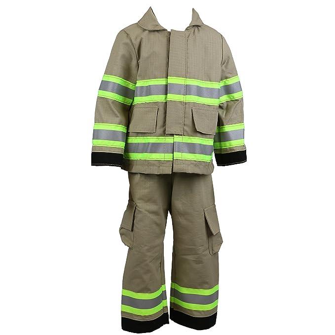 Amazon.com: Personalizado Firefighter bebé Full Tan 3-Piece ...