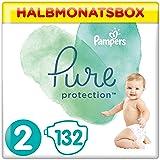 Pampers Pure Protection, Gr.2 Mini 4-8 kg, Halbmonatsbox (1 x 132 Stück), mit Premium-Baumwolle
