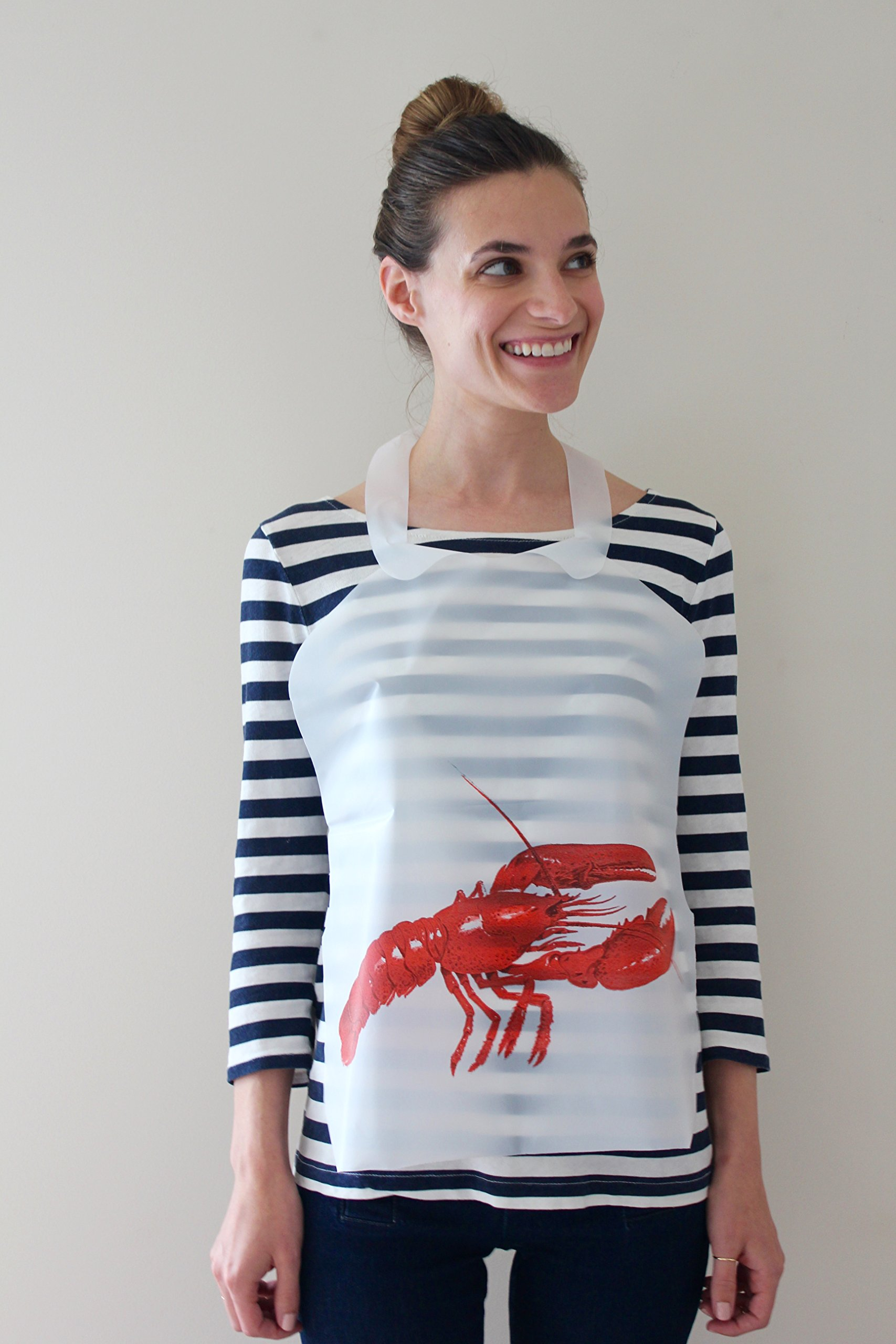 25 Pack Disposable Plastic Lobster Bibs by Tidi