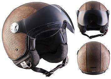 """Armor · AV-84 """"Ranger"""" (brown) · Casco moto Demi Jet"""