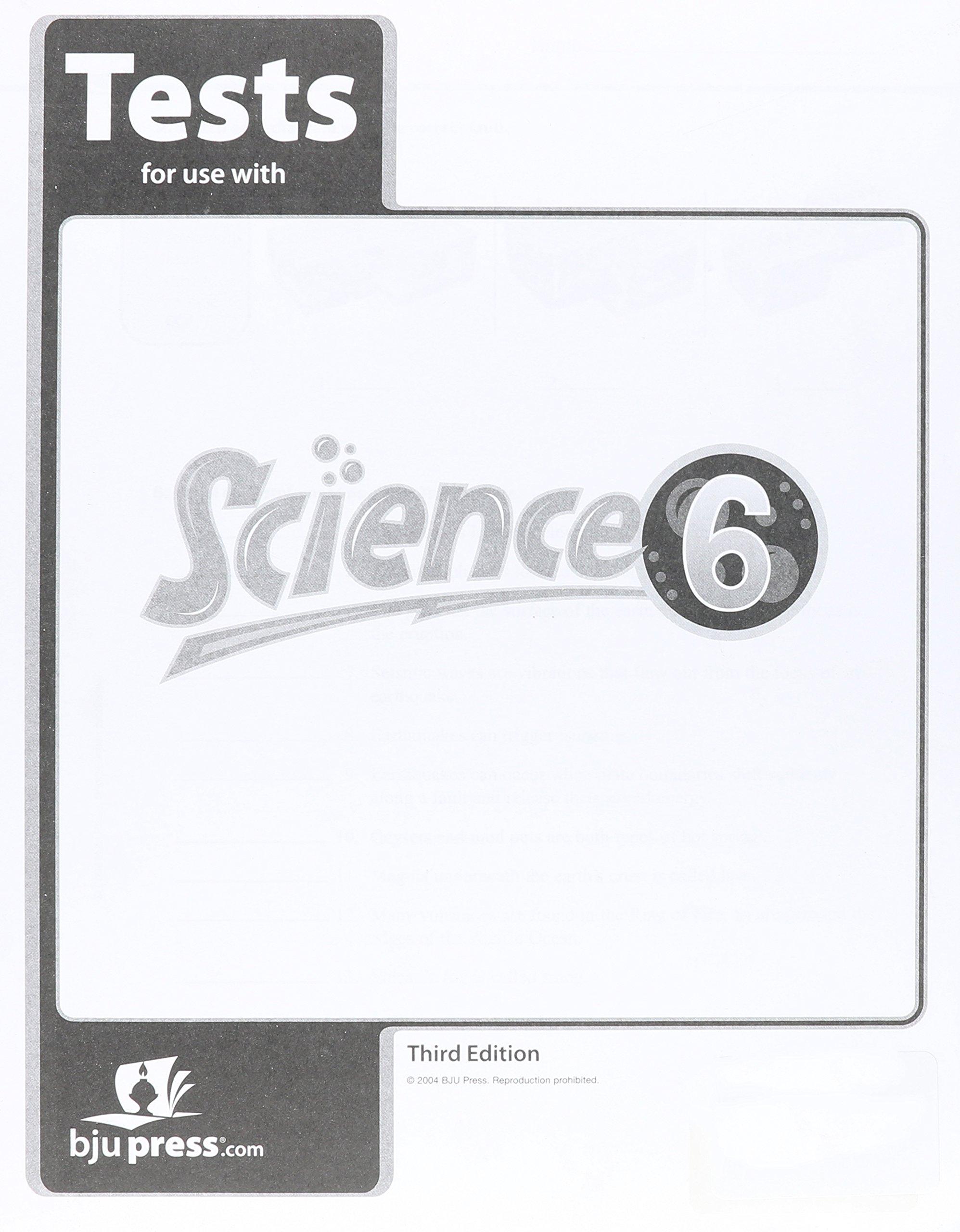 Bju science 6 teacher student text, test answer key, activity.