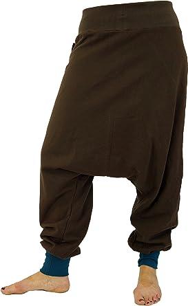 GURU-SHOP, Pantalón Afgano, Pluderhose Unisex, Pantalón Goa Pantalón Aladdin, Marrón, Algodón, Tamaño:M/L (42), Pantalones de Hombre: Amazon.es: Ropa y accesorios