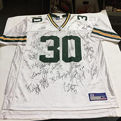 size 40 8b1f5 9801c 2002 Green Bay Packers Team Signed Authentic On Field Reebok ...