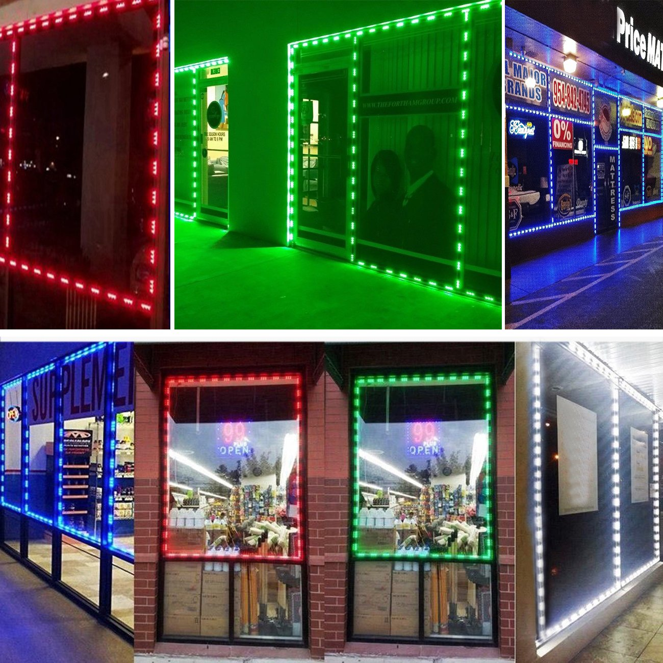EAGWELL 20 Ft Storefront 40 Pieces RGB 5050 LED Light Module,2 Set 5050 SMD 120 LED Module Store Front Window Sign Strip Light by EAGWELL (Image #4)