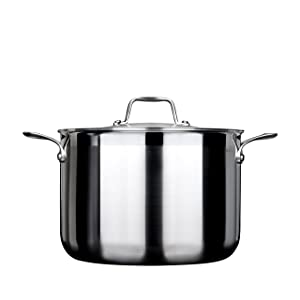 Secura Duxtop Whole-Clad Tri-Ply Stainless Steel Induction Ready Premium Cookware with Lid, 8 Quart