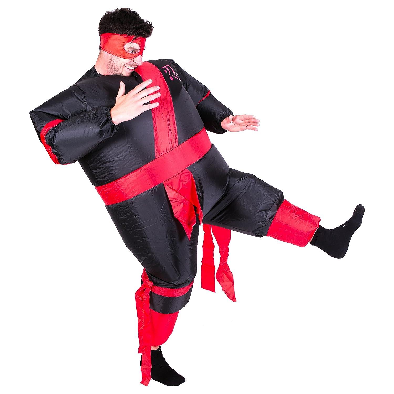 Hinchable Guerrero ninja Adulto Disfraz: Amazon.es: Juguetes ...