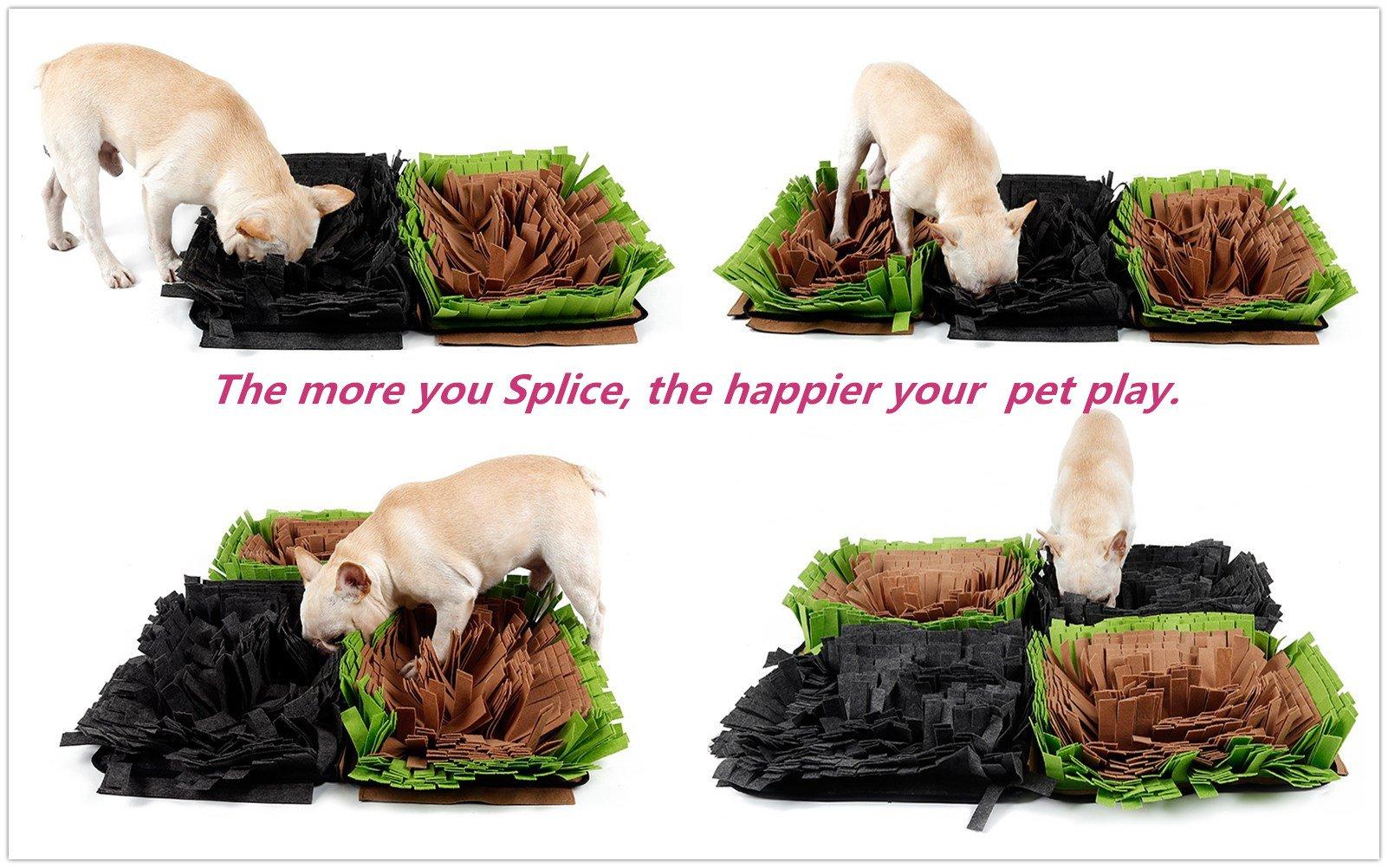 KenBu Pet Snuffle Mat,Dog Nosework Mat, Dog Nose Work Blanket,Slow Feeding Mat Dog Training and Feeding Mat Dog Play Mat for Small, Medium and Large Dogs (Green)