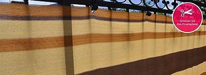 !Balkonsichtschutz Balkonblende nach Maß Höhe 75cm Grün Wenge Kakaomilch Mocca!