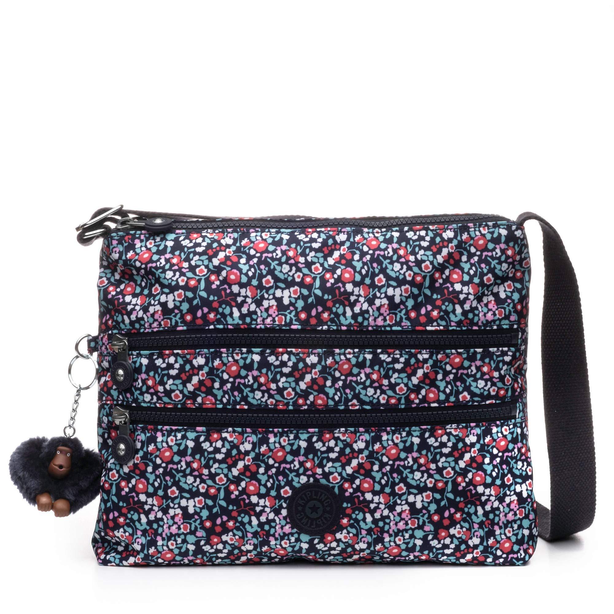 Kipling Women's Alvar Bag, Adjustable Crossbody Strap, Zip Closure, Glistening Poppy Blue