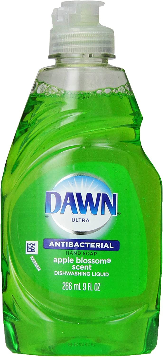 Dawn Dish Soap, Ultra Dishwashing Liquid, Antibacterial Hand Soap Apple Blossom Scent, 9 Ounce (Pack of18)