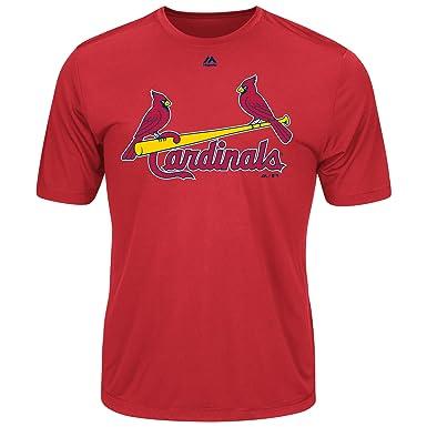 4ba01bf1 Majestic Men's Cool Base MLB Evolution Shirt St Louis Cardinals Small