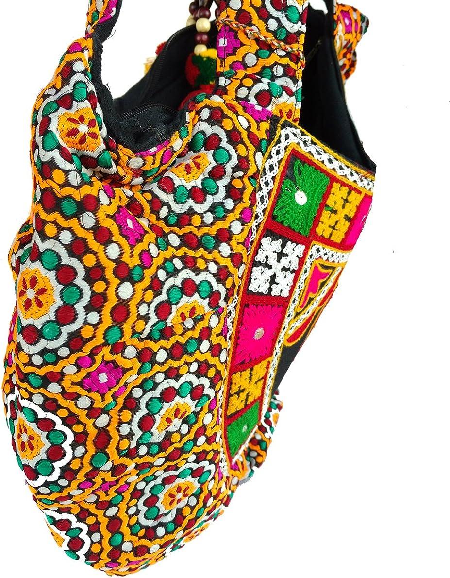 Rastogi Handicrafts Woolen Embroidery Elephant Design Women Shoulder Hand Bag Light Weight Purse
