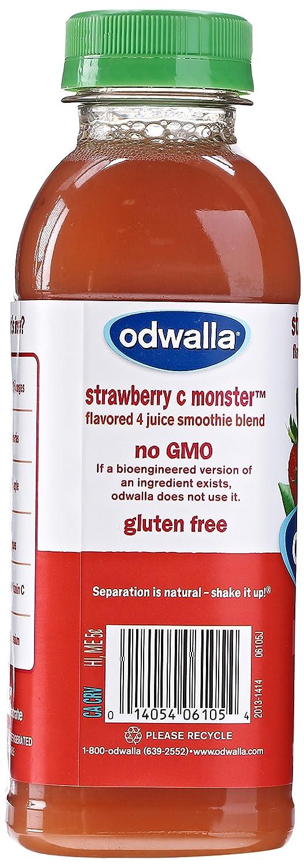 odwalla smoothie strawberry c monster 15 2 fl oz amazon com