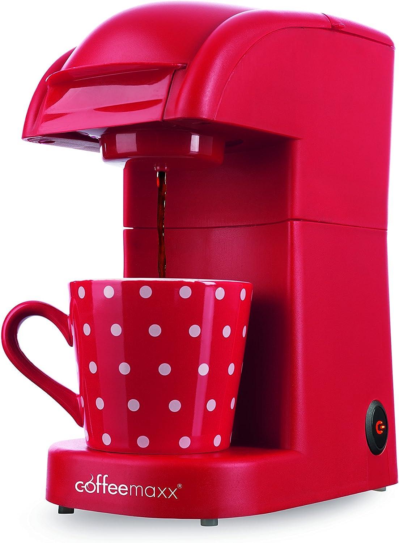 TV Unser Original 5306 - Cafetera de cápsulas, 550 W, color rojo ...
