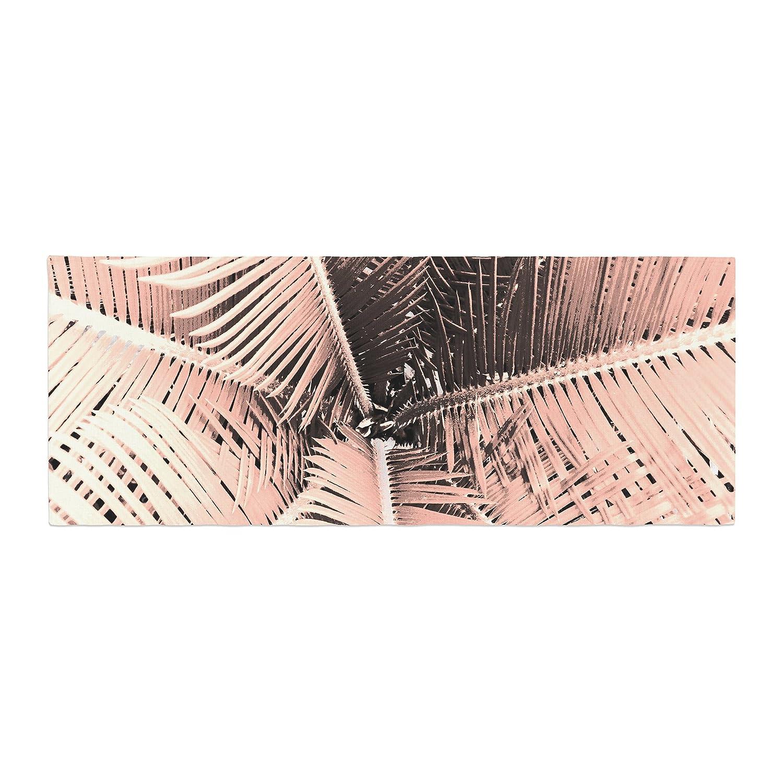 Kess InHouse Suzanne Carter Palm-Peach Pink Black Bed Runner