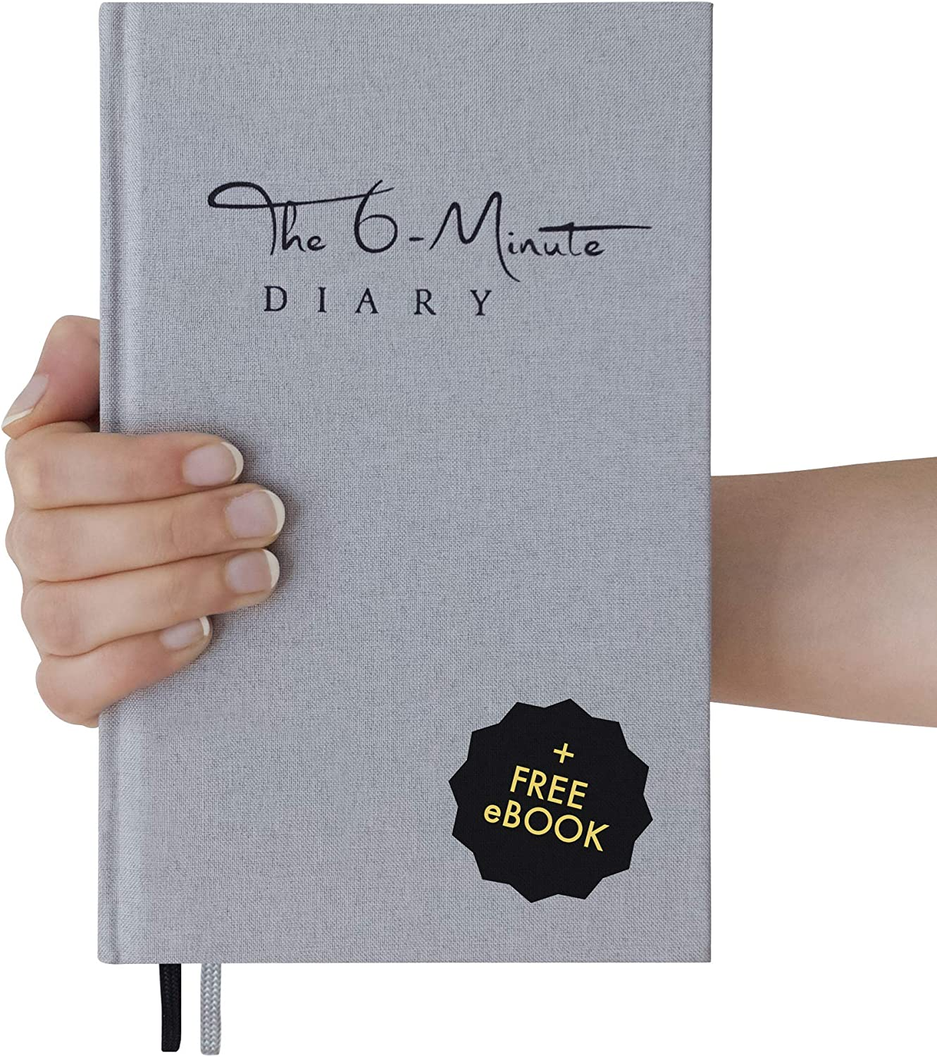 The 6-Minute Diary (Grey) | 6 Minutes a Day for More Mindfulness, Happiness and Productivity | A Simple and Effective Gratitude Journal and Undated Guided Journal | The Perfect Gift